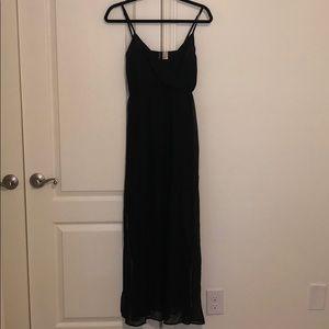 H&M - Black Maxi Semi Sheer Dress